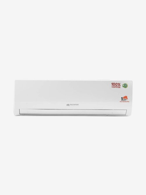 Micromax 1.5 Ton 3 Star Copper  BEE Rating 2018  ACS18C3T3QS6 Split AC  White