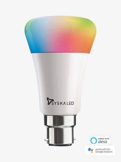 Syska SSK-SMW Smart 9W LED Bulb Compatible with Amazon Alexa and Google Assistant