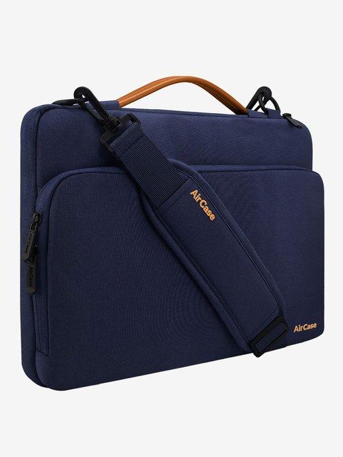 AirCase C27 Messenger Laptop Bag For 15.6 inch Laptops with Shoulder Strap   Handle  Navy Blue