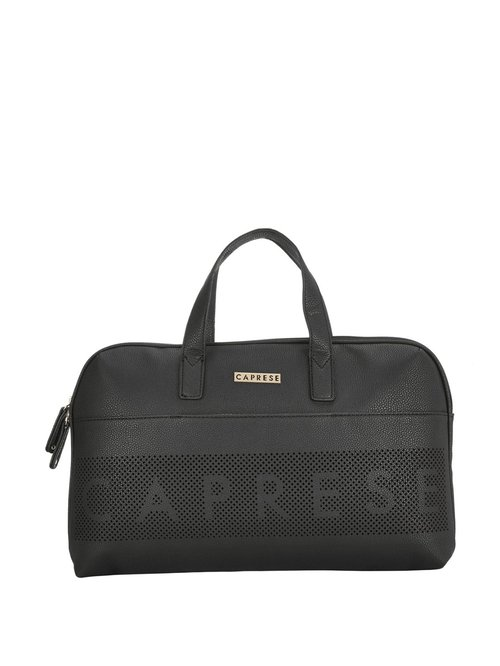Caprese Black Perforated Handbag For Women At Best Price Tata Cliq