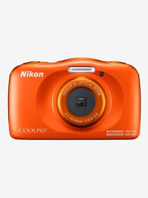 Nikon Coolpix W150 13.2 MP Point & Shoot Camera with 16GB SD Card + Carry Case + HDMI Cable (Orange)