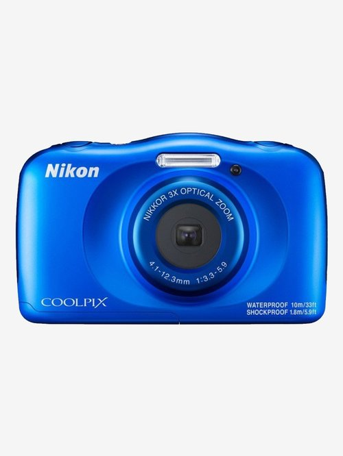 Nikon Coolpix W150 13.2 MP Point & Shoot Camera with 16GB SD Card + Carry Case + HDMI Cable (Blue)