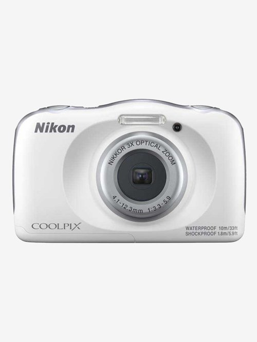 Nikon Coolpix W150 13.2 MP Point & Shoot Camera with 16GB SD Card + Carry Case + HDMI Cable (White)