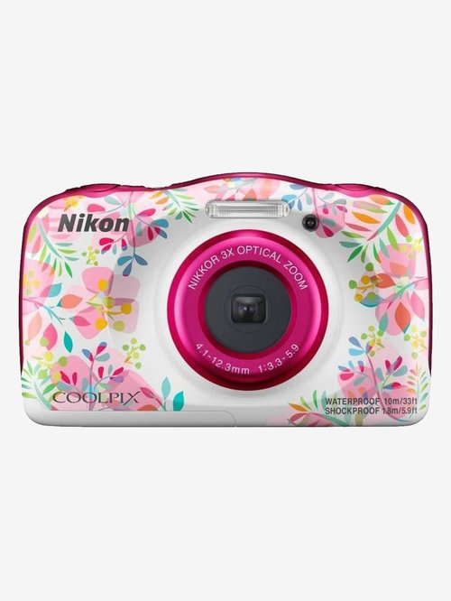 Nikon Coolpix W150 13.2 MP Point & Shoot Camera with 16GB SD Card + Carry Case + HDMI Cable (Flower)