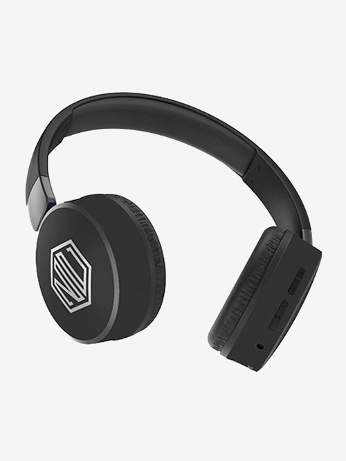 Nu Republic Dubstep Over The Ear Bluetooth Headphone With Mic (Black)