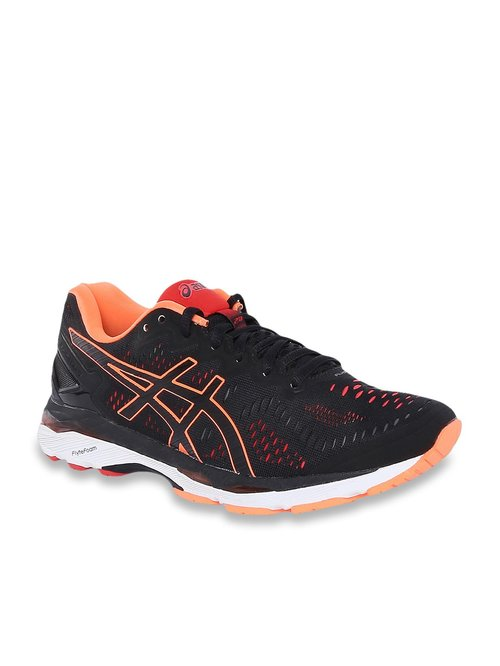 newest collection b37e0 7e1c5 Buy Asics Gel Kayano 23 Black Running Shoes for Men at Best ...