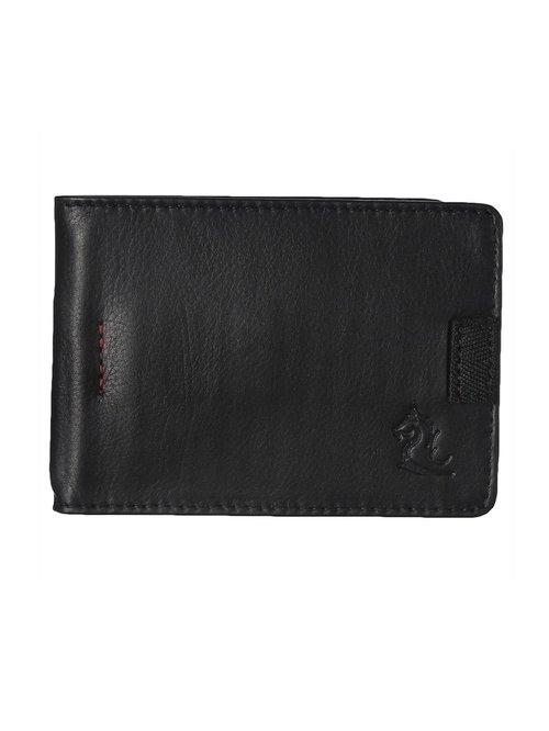 Kara Black Formal Leather Money Clip Wallet For Men