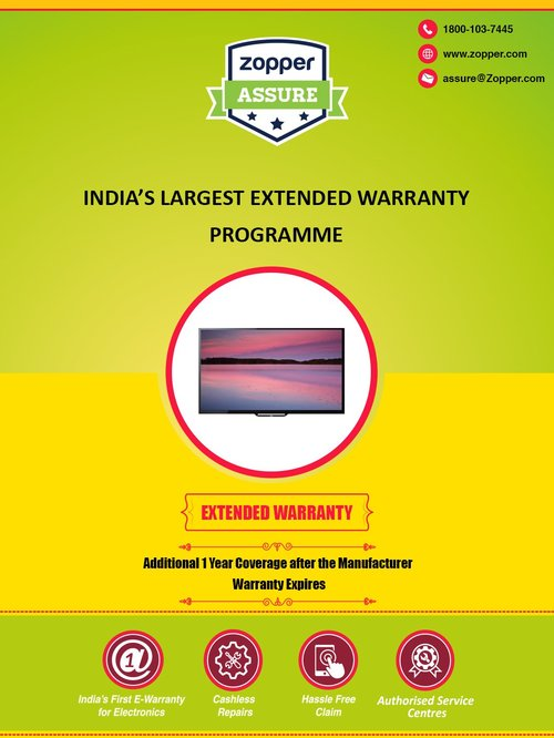 Zopper 1 Year Extended Warranty for TV