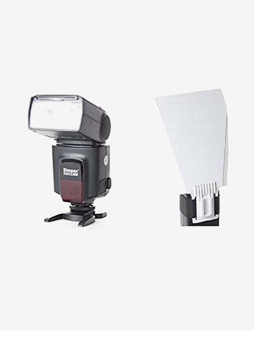 Simpex 522CM Flash light for Camera with Bounce Card (Black)