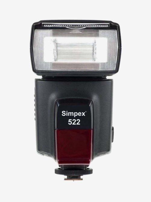 Simpex F-522A Manual Shoe Mount Flash for DSLR Cameras (Black)