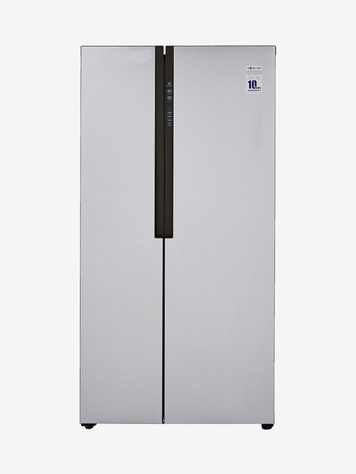 Haier 565L Inverter Frost Free Side by Side Refrigerator  Silver, HRF 619SS  Haier Electronics TATA CLIQ