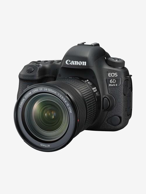 Canon EOS 6D Mark II  EF24 105mm f/4L IS II USM  DSLR Camera  Black  Canon Electronics TATA CLIQ