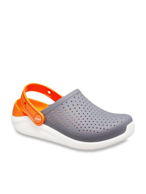 Buy Crocs Kids Lite Ride Grey Back