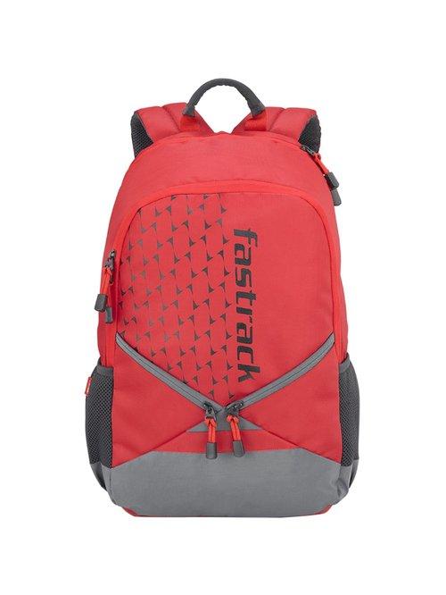 Fastrack Red   Grey Medium Backpack