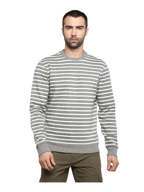 Red Tape Grey Full Sleeves Sweatshirt