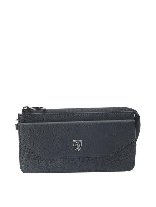 Puma Black Solid Wristlet Wallet for Women