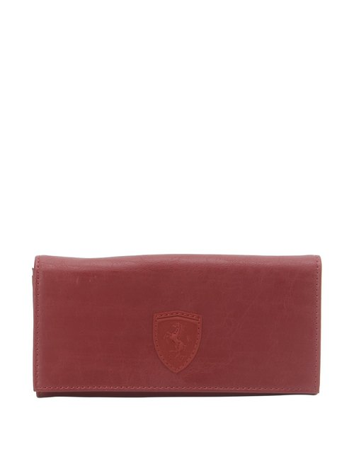 Puma Red Solid Wallet for Women