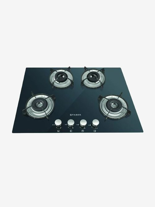 Faber HCT 654 CRR LBK EI NA 4 Burners Hob Cooktop (Black)