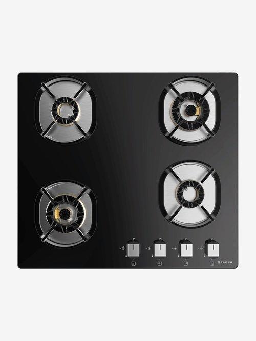 Faber Nexus HT604 CRS BR CI 4 Burners Hob Cooktop (Black)