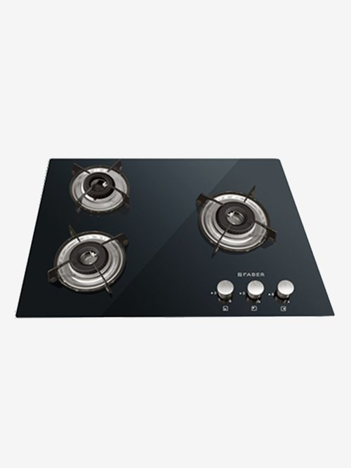 Faber HCT 653 CRR LBK EI AI 3 Burners Hob Cooktop (Black)