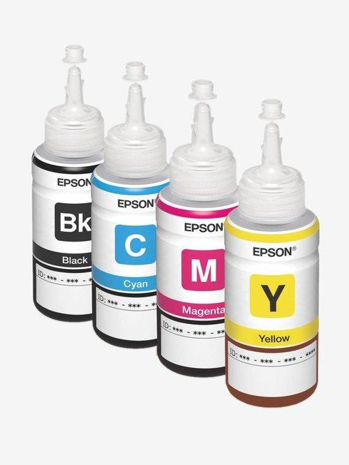 Epson T6641/T6642/T6643/T6644 Ink Set of 4 Bottles  Black/Cyan/Magenta/Yellow