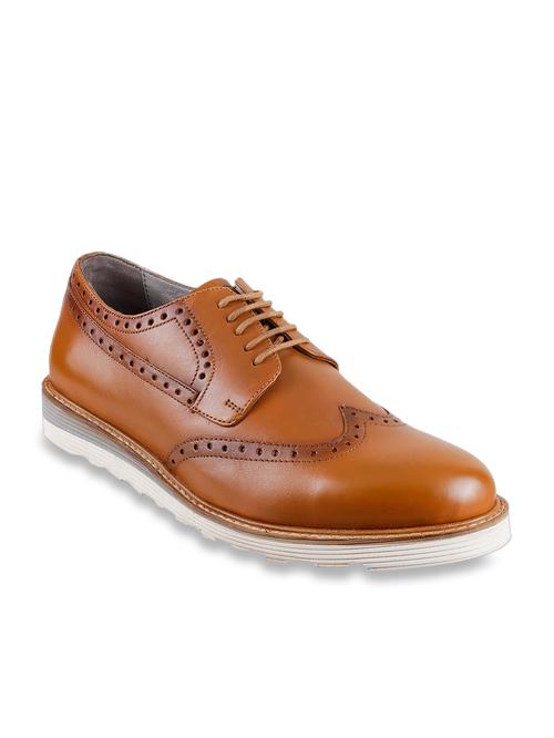 Buy Metro Tan Brogue Shoes for Men at