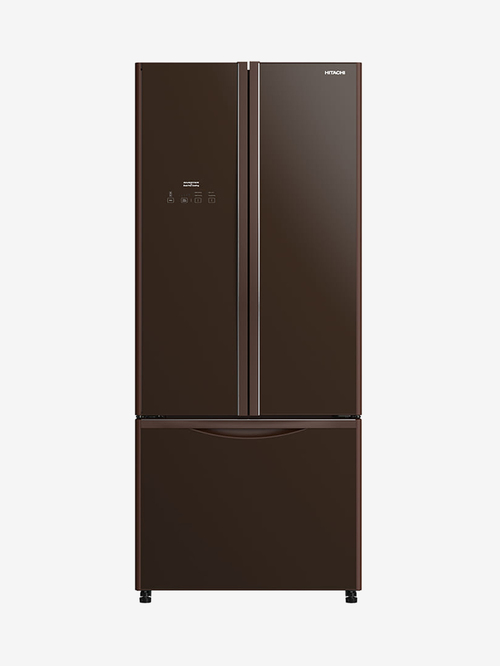 Hitachi 451L Inverter Frost Free Side By Side Refrigerator (Glass Brown, R-WB490PND9 GBW)