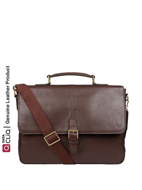 Hidesign Merlin 01 Brown Leather Medium Laptop Messenger Bag