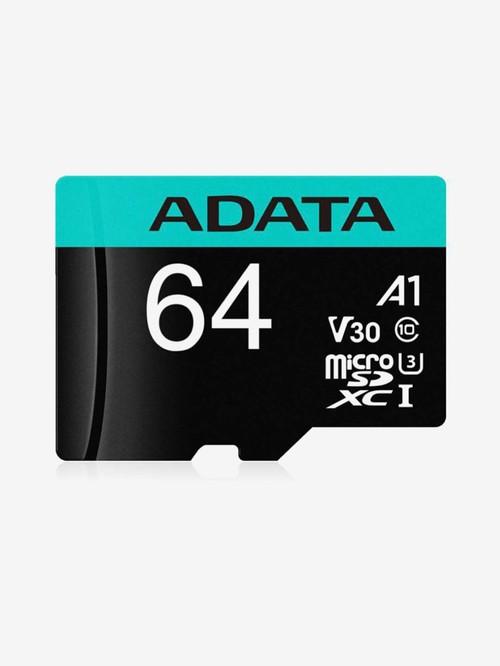 Adata 64  GB Class 10 Premier Pro Micro SD Memory Card  Premier Pro, Black