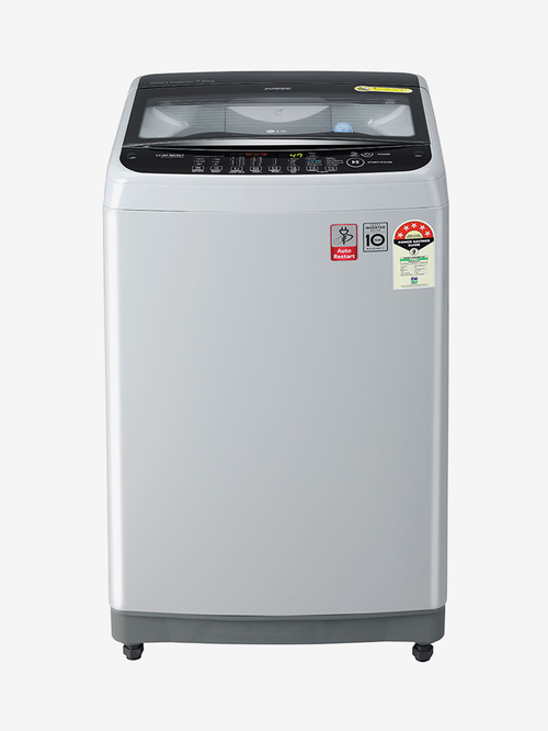 LG 7 kg Inverter 5 Star Fully Automatic Top Load Washing Machine  T70SNSF3Z, Middle Free Silver