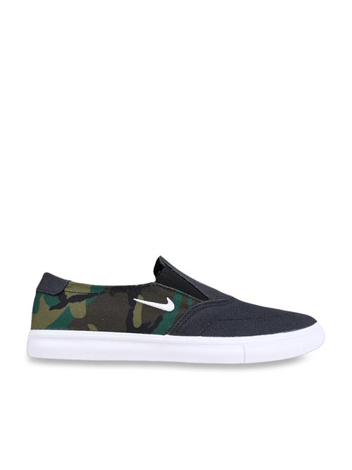 Nike SB Portmore II Camo Green Sneakers