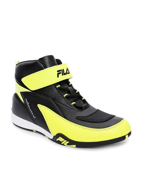 Lime Yellow Ankle High Sneakers