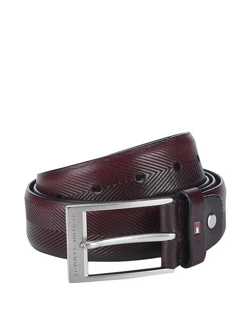 Tommy Hilfiger Ryland Maroon Leather Waist Belt for Men