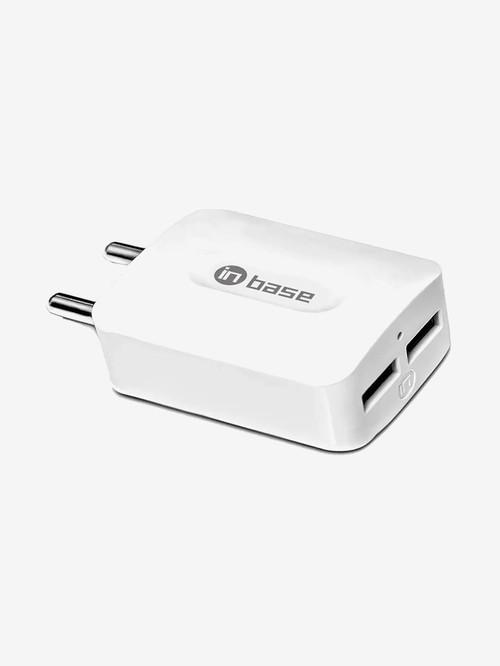 Inbase 3.1Amp Dual USB Wall Charger  White