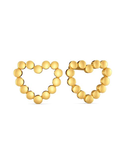 Melorra Dancing Hearts 18 kt Gold Earrings