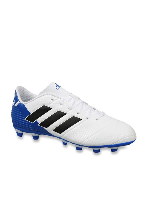 Adidas Nemeziz Messi 18.4 FXG White Football Shoes