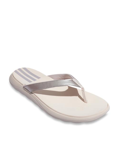 Buy Adidas Comfort Silver Flip Flops