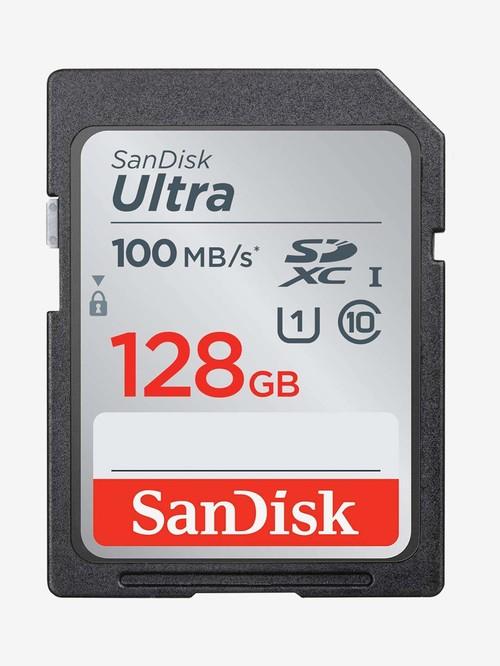 SanDisk Ultra SDSDUNR 128G GN6IN 128 GB SDXC UHS I Class 10 SD Memory Card  Black