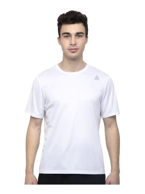 Reebok RE SS TEE White Regular Fit Sports T Shirt