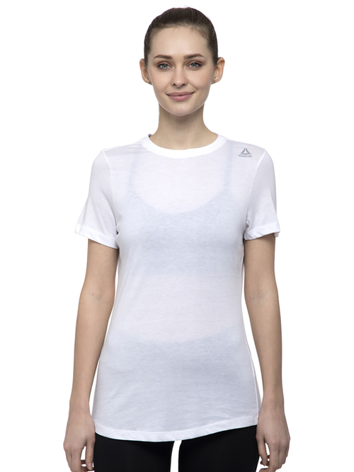 Reebok White Cotton T-Shirt