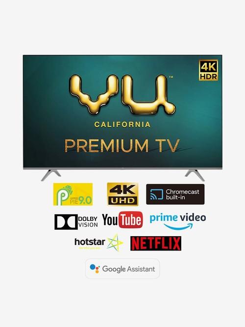 Vu 126 cm (50 Inches) Android Smart Ultra HD 4K LED TV Premium 50PM (2020 Model, Black)
