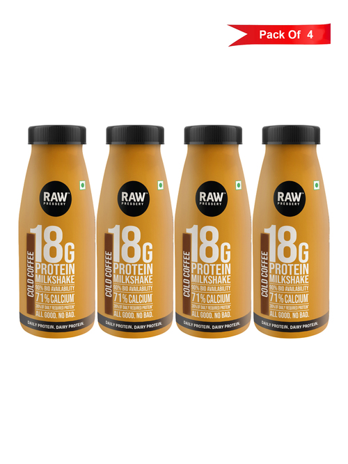 Raw Pressery Cold Coffee Protein Milk Shake  200 ml    Pack of 4
