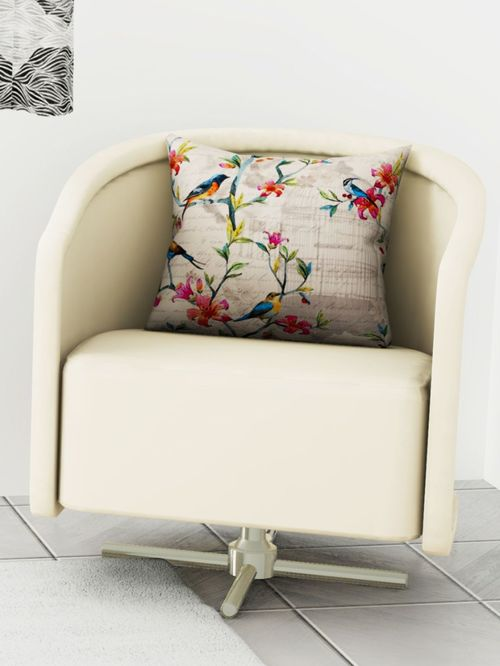 Bianca Ruyal Cream   Red Cushion Cover   Pack of 1