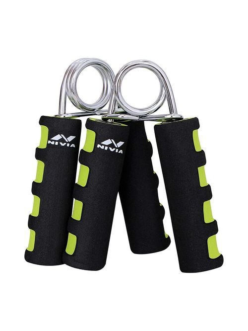 Nivia Black   Green Foam Hand Grip 2.0   Set of 2