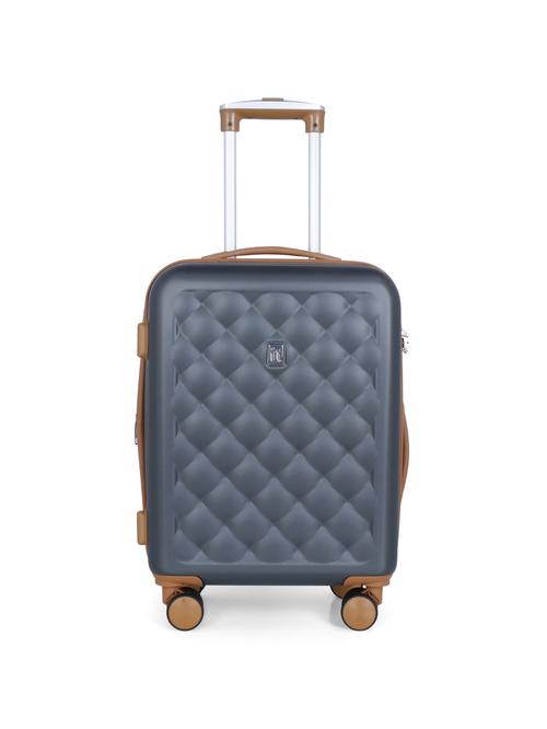 It luggage Cushion Lux Grey 4 Wheel Small Hard Cabin Trolley   23 Inch