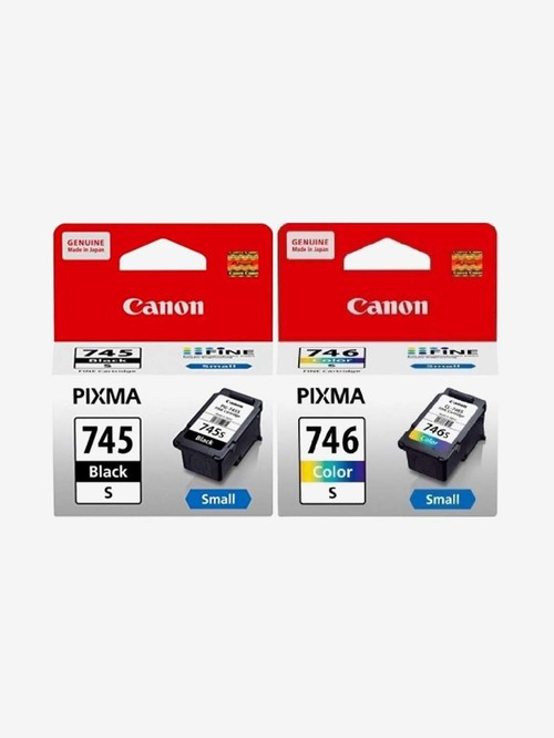 Canon 745 S Black and 746 S Tri Color Ink Cartridges  Multicolor  Canon Electronics TATA CLIQ