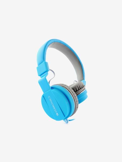 Zebronics Zeb Storm Wired Headphone with Microphone  Blue  Zebronics Electronics TATA CLIQ