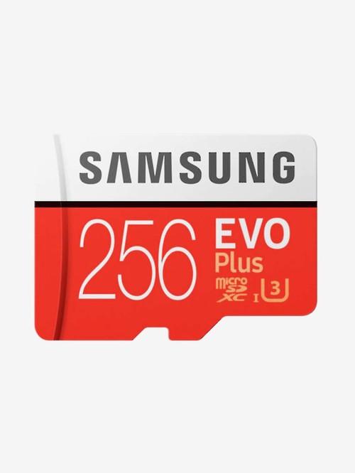 Samsung EVO Plus 256 GB UHS I Class 10 microSD Memory Card  MB MC256GA/IN, Red and White