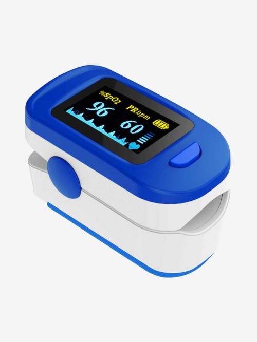 AccuSure FS20C OLED Finger Tip Pulse Oximeter (Blue and White)