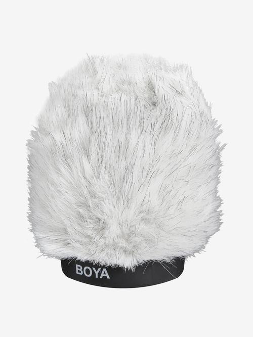 Boya BY P100 Furry Microphone Windshield  White